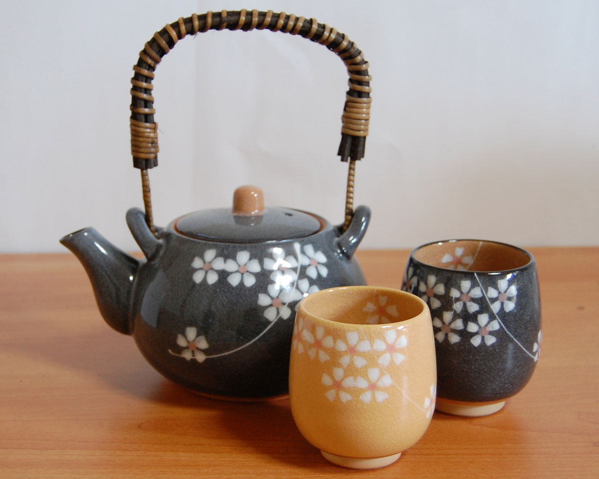 Black Sakura Tea Pot Set 48509773