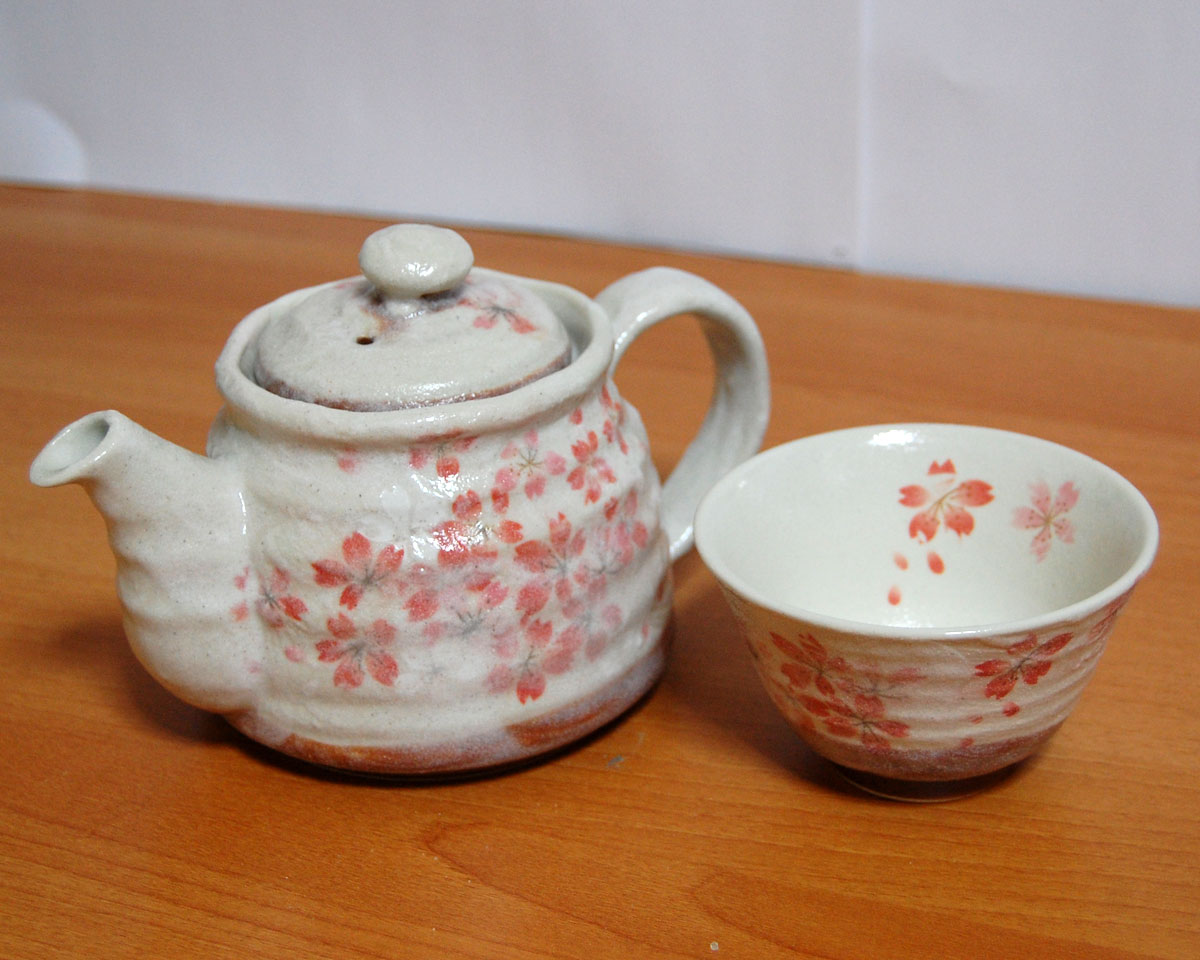 Japanese Heian Sakura Tea Pot Set with 1 cup 50705401